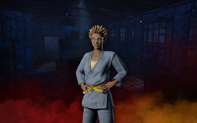 FIND YOUR BALANCE WITH CLAUDETTE'S JUDO BRUISER OUTFIT